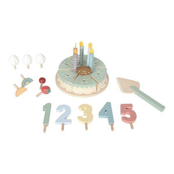 Drewniany tort urodzinowy do krojenia Little Dutch